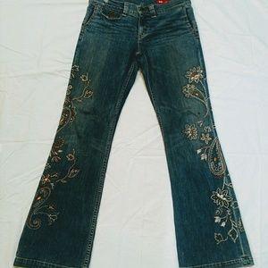 X2 Express Vintage Embellished Flared Jeans. 30